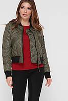 Короткая стеганая куртка-бомбер,  размер 42-46