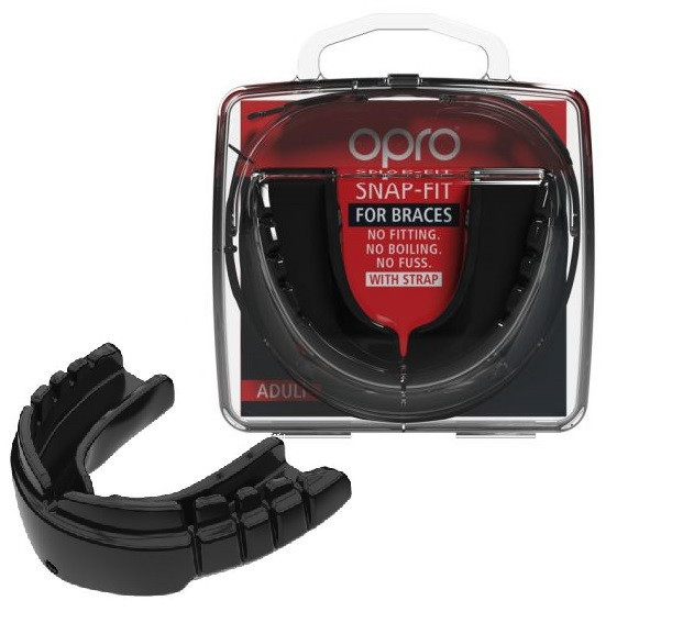 Капа OPRO Snap-Fit FOR BRACES Black (art.002318001)