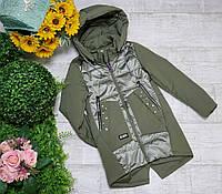 Куртка для девочки осень  весна код 206  размеры на рост от 134 до 158 возраст от 6 лет и старше, фото 1