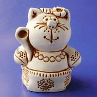 Гипсовая фигурка Кошка в вышиванке