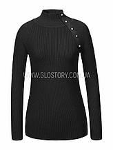 Женский гольф в черном цвете, Glo-Story