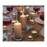 IKEA ГЛАСИГ Подсвечник для греющей свечи, прозрачное стекло, 5*5см. / 5шт., фото 2