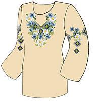 Заготовка женской туники-вышиванки ТД-026 Беж