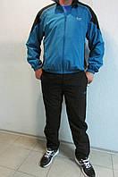 Мужской спортивный костюм Lotto 2102  голубой с черным  код 328 б