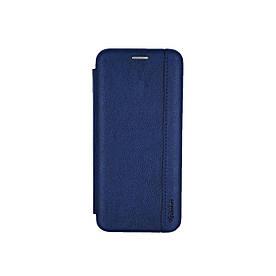 Чехол книжка для Huawei Y6 2019 боковой из натуральной кожи, Gelius, синий