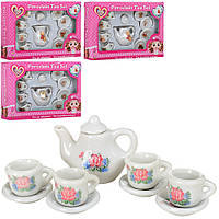 Посуда 628-13-4-5-6, фарфор, чайный сервиз на 4персоны, 4вида, в кор-ке, 17, 5-11, 5-3, 5см