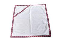 Крыжма для крещения ребенка с капюшоном на домотканном полотне, фото 1