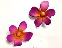 "Зажим ""уточка"" для волос - цветок (6 пар), фото 1"