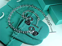 Tiffany Тифани колье и браслет с кулоном сердце tiffany & co ОРИГИНАЛ Потрясающий модный набор