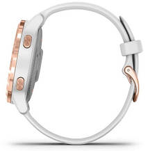 Смарт-годинник Garmin Vivoactive 4S Rose Gold Stainless Steel Bezel with White Case and Silicone Band, фото 3