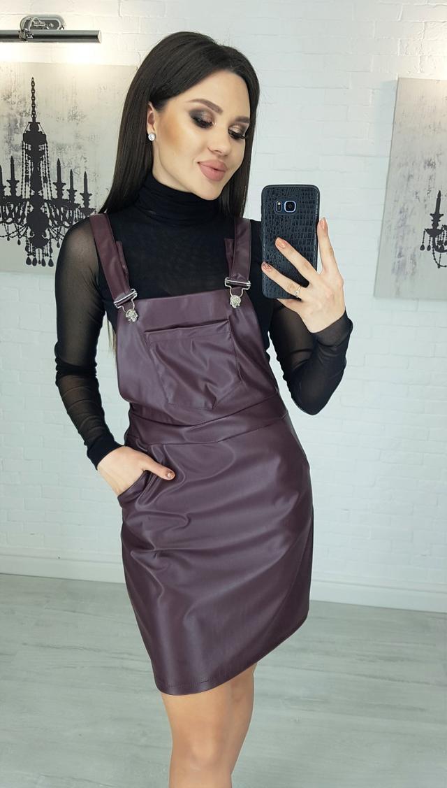 фото платье экокожа