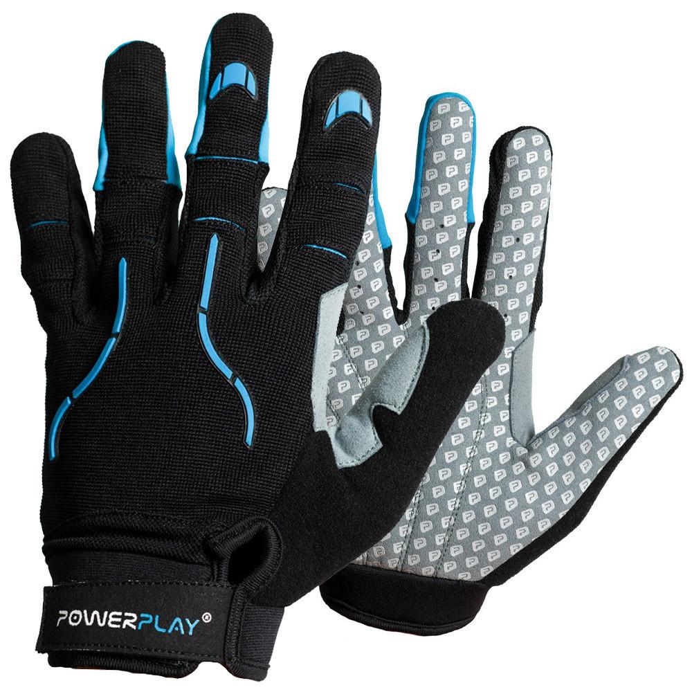 Робочі рукавички PowerPlay 6662 А Чорно-Блакитні XXL