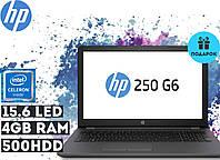 "Ноутбук HP 250 G6 15.6"" HD LED (Intel Celeron N3350, 4 GB RAM, 500 HDD, Windows 10)"