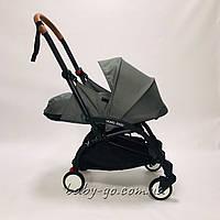Коляска YOYA 2020 175 + блок для новорожденных Серая