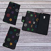 Чехол-книжка с силиконовым бампером и кармашками для Doogee X53 Black, фото 3
