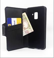 Чехол-книжка с силиконовым бампером и кармашками для Huawei Honor 10i Black, фото 2