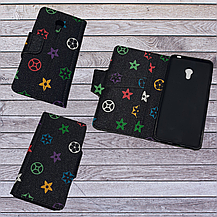 Чехол-книжка с силиконовым бампером и кармашками для Huawei Honor 6a Transparent , фото 3