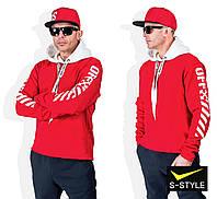 Стильний чоловічий батник, штани на флісі 46-52 р червоний