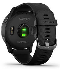 Смарт-годинник Garmin Vivoactive 4 Slate Stainless Steel Bezel with Black Case and Silicone Band, фото 2