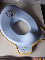 Накладка детская, сиденье, адаптер для унитаза, сидушки, вставка детская,  СМ240 Irak Plasti голубой, фото 1