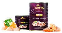 NUEVO ADULT 400 г. Корм для кошек с курицей и креветками (цена за блок/6 банок)
