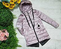 Куртка для девочки осень  весна код 2063  размеры на рост от 128 до 152 возраст от 6 лет и старше, фото 1