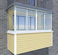 Металлопластиковый балкон в Кропивницком