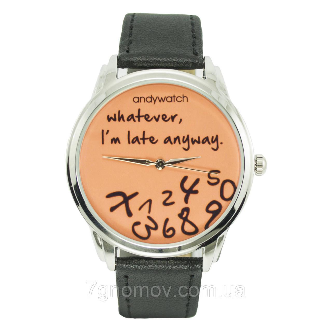 Часы наручные AndyWatch I am late orange арт. AW 031