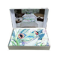 Постільна білизна Tivolyo Home Time Out (160x220) з жабою, фото 1