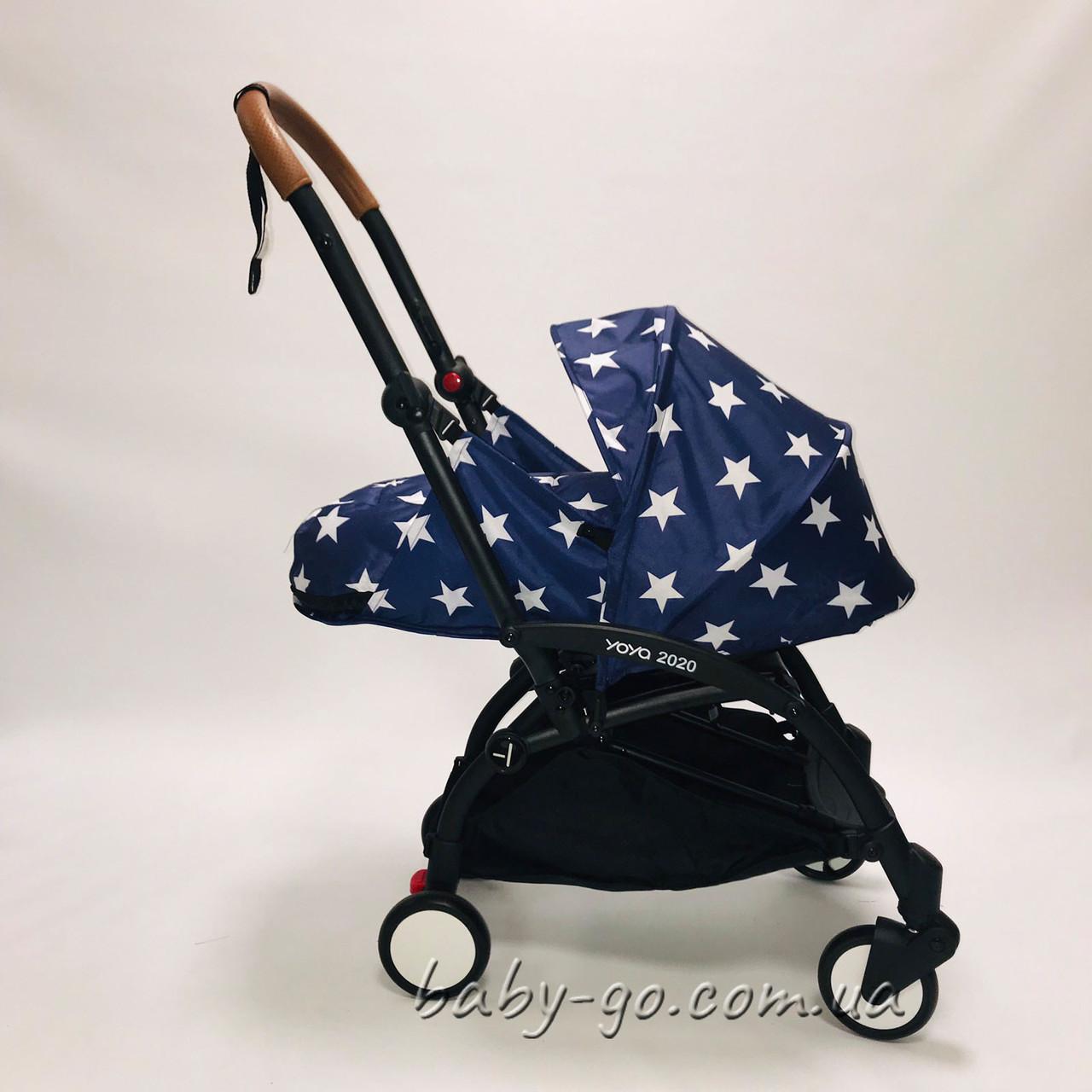 Коляска YOYA 2020 175 + блок для новорожденных Звезды