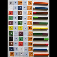 Развивающий набор Палочки Кюизенера Gigo 250 деталей, разноцветные палочки