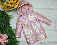 Куртка для девочки осень  весна код 9977  размеры на рост от 80 до 104 возраст до 6 лет