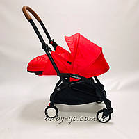 Коляска YOYA 2020 175 + блок для новорожденных Красная