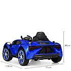 Детский электромобиль Lamborghini M 4115EBLR-4 синий, фото 4