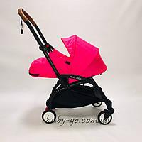 Коляска YOYA 2020 175 + блок для новорожденных Розовая