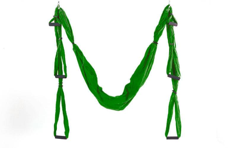 Гамак для йоги с ручками Antigravity Yoga FI-5323 красный зеленый