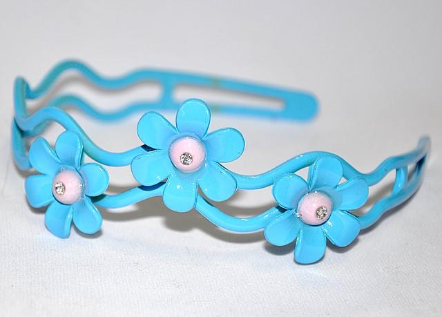 Детский обуч для волос - цветы со стразом (12 шт)