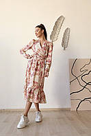 Женское платье на запах в разных расцветках