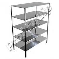 Стеллаж производственный кухонный пять уровней из нержавеющей стали (5 полок)