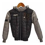 Коротка демісезонна куртка для хлопчика підлітка, колір Сірий, розміри 140 - 170, модель Тарас,, фото 2