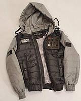 Короткая демисезонная куртка для мальчика подростка, цвет Серый, размеры 140 - 170, модель Тарас,