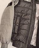 Коротка демісезонна куртка для хлопчика підлітка, колір Сірий, розміри 140 - 170, модель Тарас,, фото 5