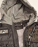 Коротка демісезонна куртка для хлопчика підлітка, колір Сірий, розміри 140 - 170, модель Тарас,, фото 4