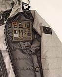 Коротка демісезонна куртка для хлопчика підлітка, колір Сірий, розміри 140 - 170, модель Тарас,, фото 6