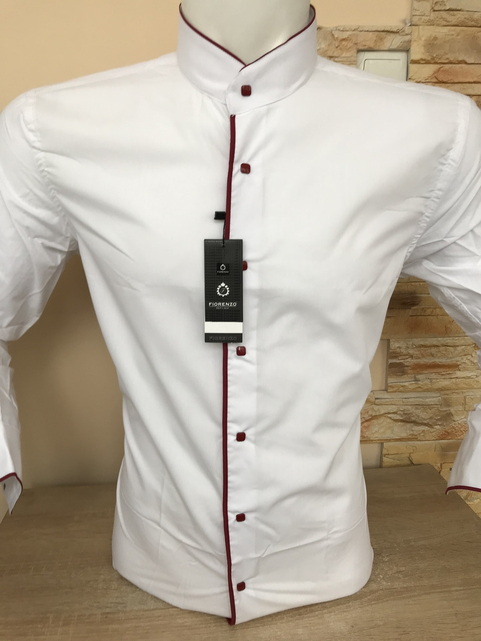 Sale!!! Рубашка Fiorenzo с воротником-стойка