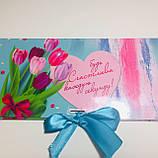 Подарочная коробка-конверт для шоколадки, Подарочный конверт, Презент, фото 2