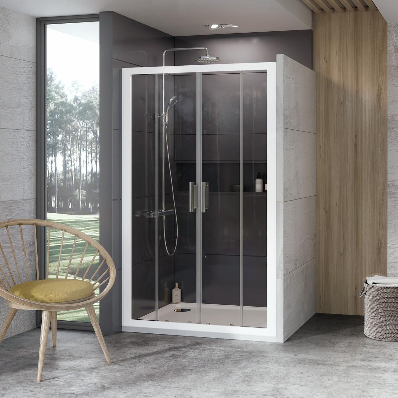 Душевые двери распашные Ravak 10 ° 10DP4 Transparent четырехэлементный
