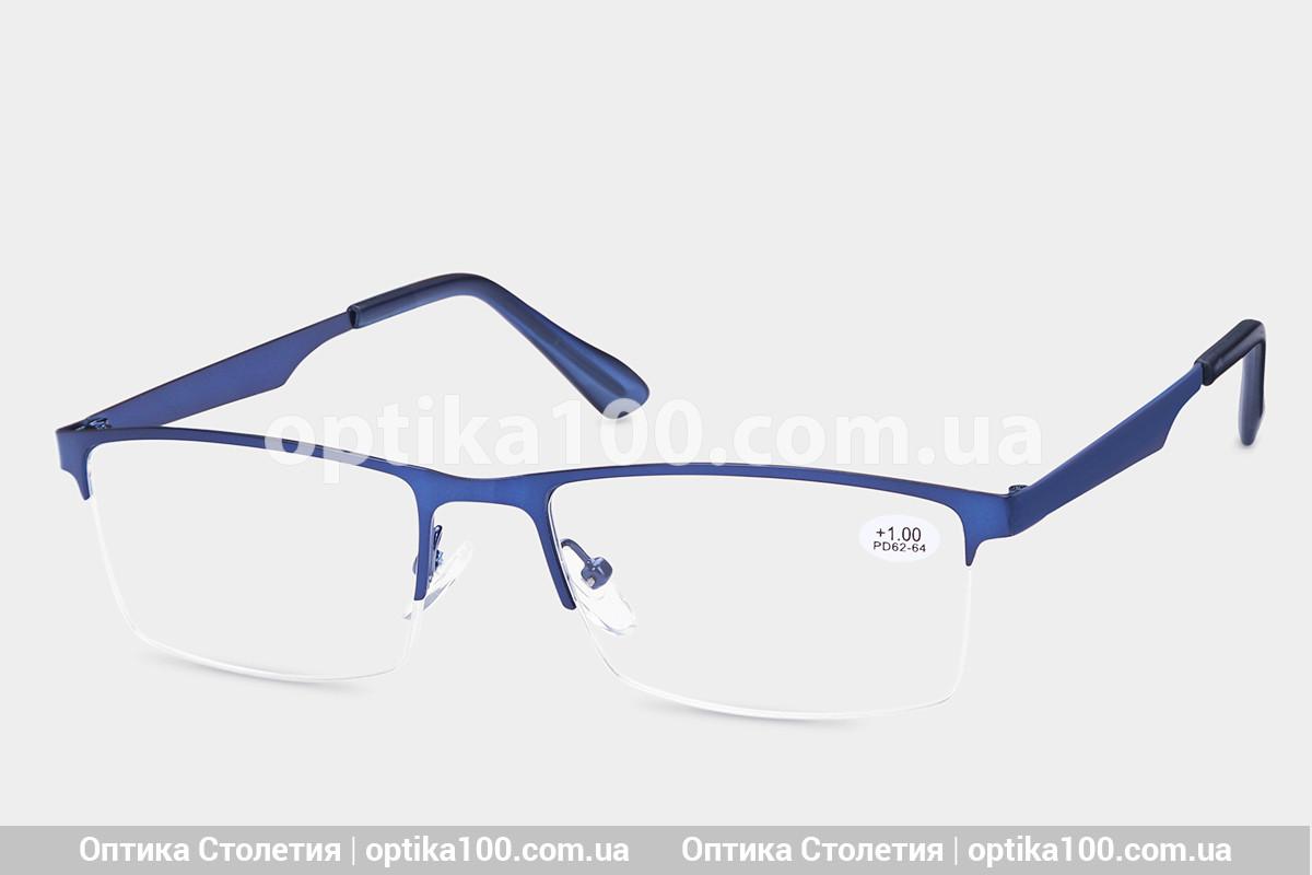 Окуляри для зору ПЛЮС у синій металевій оправі