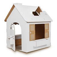 Большой домик из картона для раскрашивания
