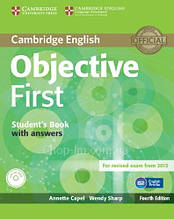 Objective First Fourth Edition Student's Book with answers and CD-ROM / Учебник с диском
